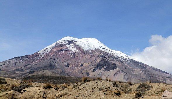 The Glacier, Chimborazo, Andy, Volcano, Extinct Volcano