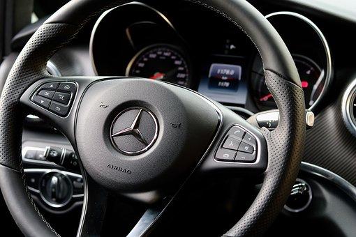 Mercedes, Interior, Vehicle, Auto Detail, Chrome