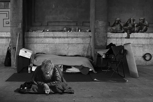 Homeless Man, Beggars, Homeless, Poverty, Bed