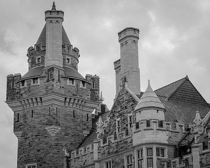 Black And White, Castle, Architecture, Old, Travel