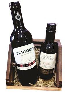 Wine, Present, Basket, Box, Wood, Basket Of Wood