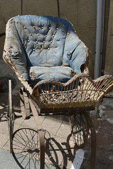 Stroller, Vintage, Old, Antique, Oldtimer, Drive, Child