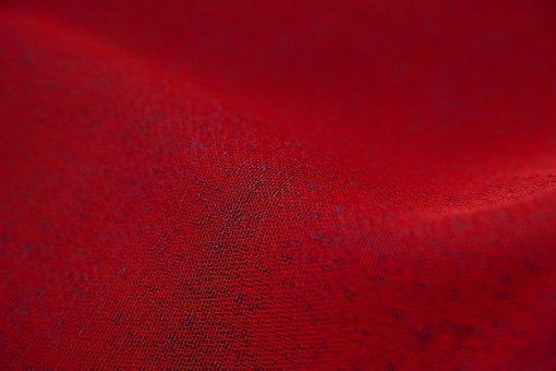 Red, Fabric, Beautiful, Textile, Macro, Detail, Design