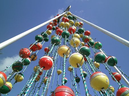 Key West, Christmas Tree, Floats, Christmas, Florida