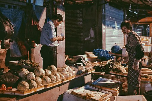 Fruit Stall, Fruit, The Old Man, Marketplace, Farmers