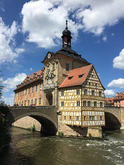 Bamberg, Rathaus, Germany, Bavaria, Town, Architecture