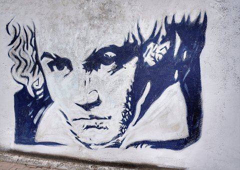 Street, Art, Beethoven, Graffiti, Verona, Italy