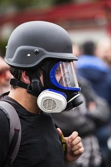 Gas Mask, Human, Society, Violence, Freedom, Attack