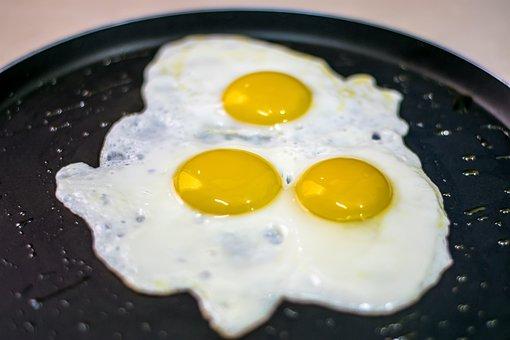 Eggs, Sunny Side Up, Fried Eggs, Morning Breakfast