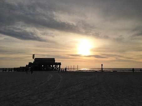 Sunset, Beach, Most Beach, Sea, Abendstimmung