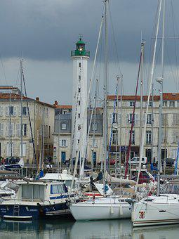 Lighthouse, Beacon, Navigation, Port, Marina, Sailboats
