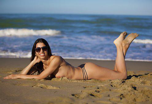 Sea, Beach, Onda, Beaches, Water, Sand, Girl, Glasses