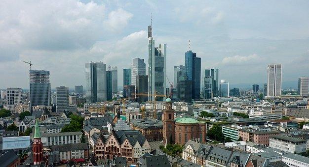 Skyline, Frankfurt, Ffm, Skyscrapers, Skyscraper