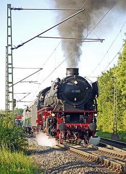 Steam Locomotive, Steam Special Train, Departure, Exit