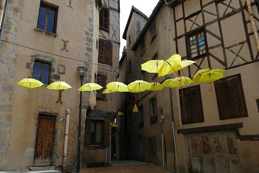 Umbrella, Parasol, Rain, Sun, Yellow, Protection