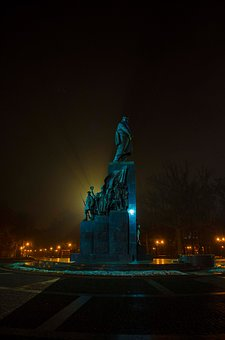 Monument, Fog, Rays, Drizzle, Ukraine, Taras, Kharkov
