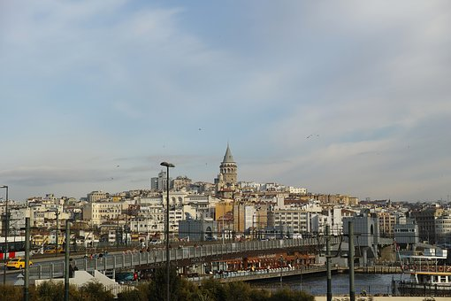 Galata, Tower, Old, Building, Clouds, Istanbul, Turkey