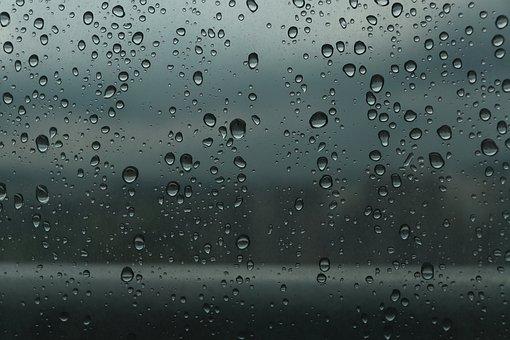 Trickle, Non, Cloud, Raindrops, A Rainy Day, Window