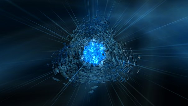 Ice, Blue, Cold, Background, Abstract, Explosion