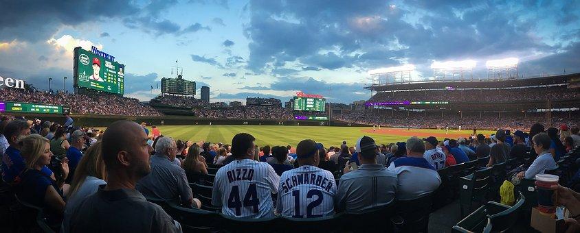Chicago, Baseball, Cubs, Wrigley, Sport, American