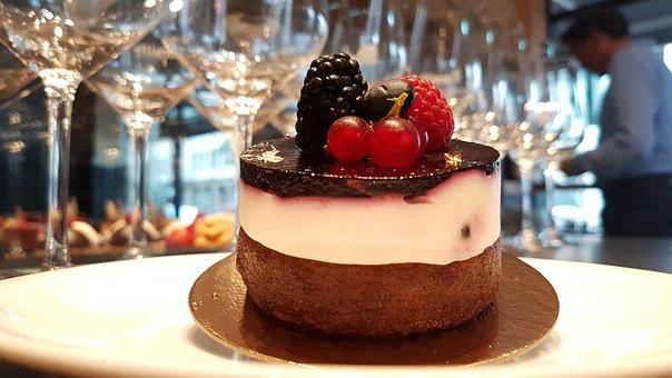 Patisserie, Dessert, Berries On Yogurt, Benefit From