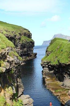 Torshavn, Faroe Islands, Gorge, Europe, Blue, Travel