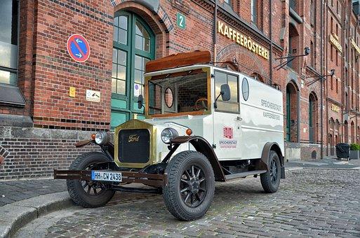 Hamburg, Speicherstadt, Coffee Roasting, Oldtimer, Vans