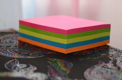 Stickers, Paper, Rainbow, Color