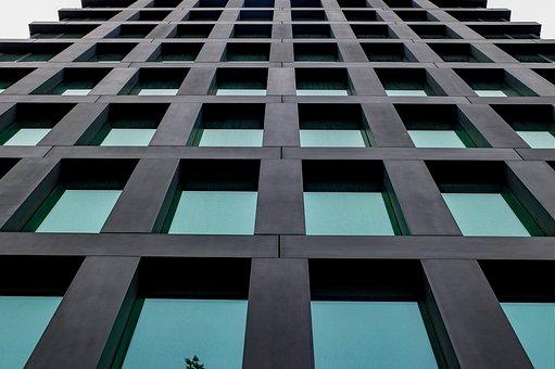 Building, Facade, Glass, Green, Modern, Construction