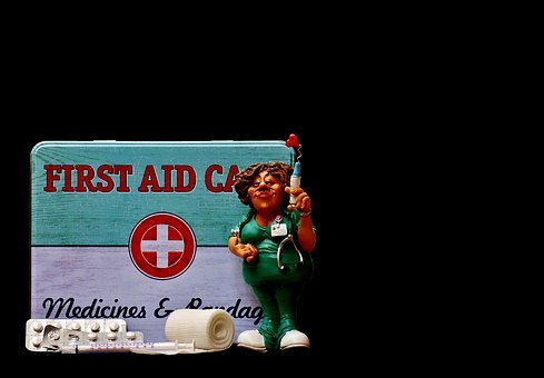 First Aid, Nurse, Funny, Box, Tin Can, Color
