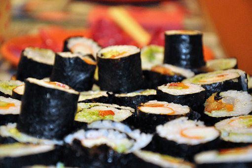 Sushi, Eat, Asia, Rice, Delicious, Fish, Salmon, Food