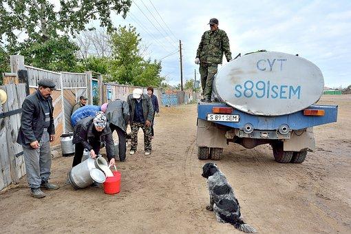 Purchase Of Milk, Genre Scene, Kazakhstan, Village