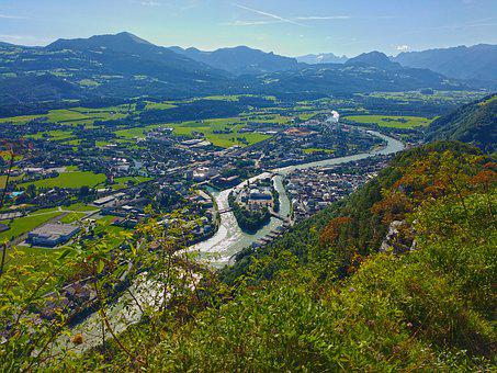 Mountains, Landscape, Hallein, Salzburg, Barmstein