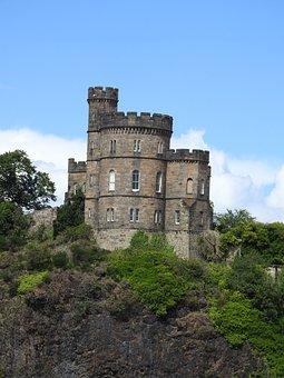 Castle, Edinburgh, Hill, Scotland, Landscape