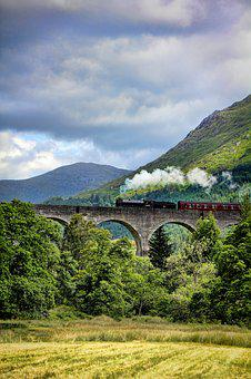 Train, Hogwarts, Scotland, Glenfinnan, Hogwarts Express
