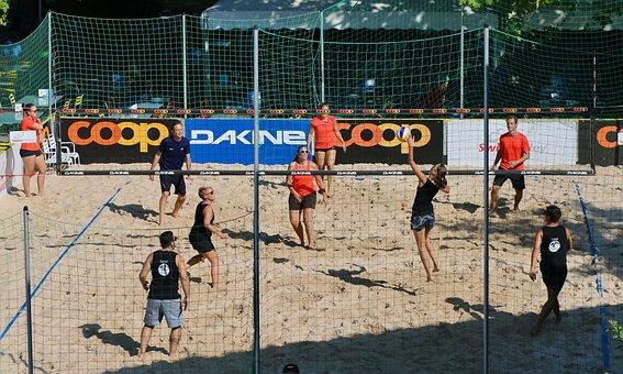 Beach Volleyball, Sport, Web, Ball, Players, Sand