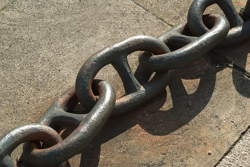 Chain, Single, Metal, Steel, Strong, Links, Industrial
