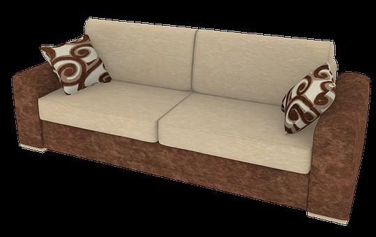 Sofa, Cushion, Interior, Furniture, Seat, 3d, Render
