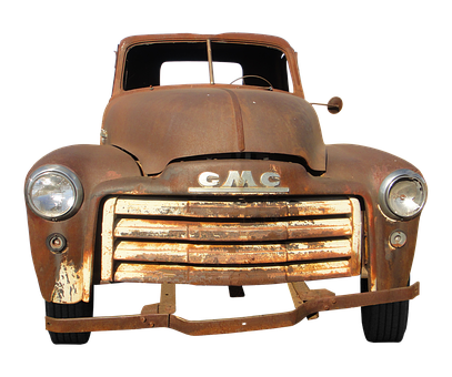 Gmc, Oldtimer, Rusted, Stainless, Old, Antique