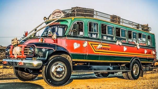 Bus, Old, Vehicle, Car, Retro, Vintage, Tourism