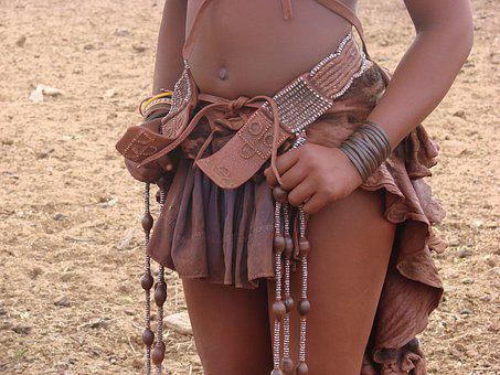 Namibia, Woman, Himba, Africa, Adornment, Red, Clay