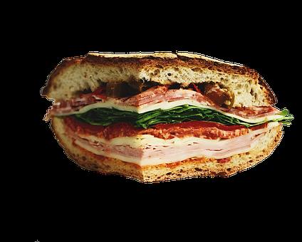 Sandwich, Burger, Bread, Ham, Salad, Cheese, Occupied