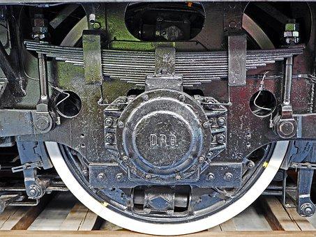 Electric Locomotive, Drive Axle, Spring Pot Drive, E18
