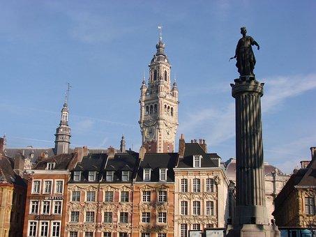 Lille, France, North, Flanders, Flemish, Belfry