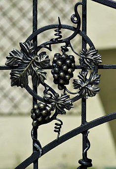 Vineyard, Sign, Symbol, Branch, Wine, Grapes, Sculpture