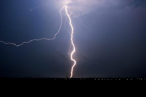Lightning, Thunder, Night, Thunderstorm, Sky