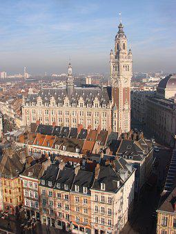 Lille, France, North, Great Place, Belfry, Architecture