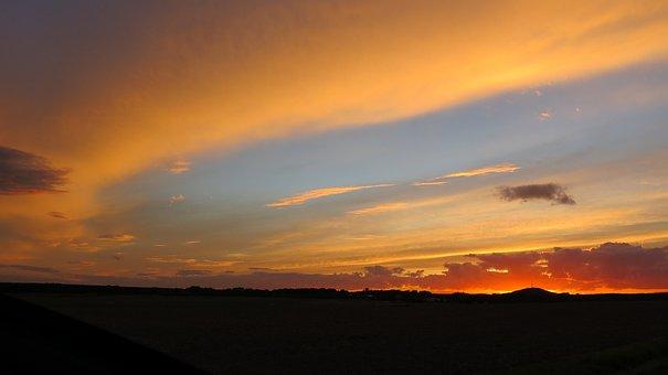 Collm, Sunset, Oschatz, North Saxony