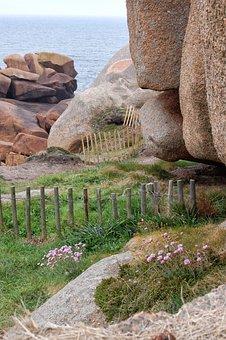 France, Brittany, Pink Granite Coast, Rocky Coast