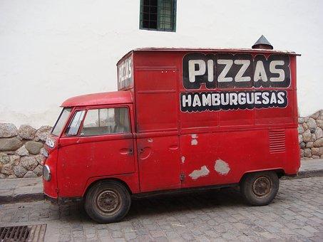 Car, Van, Freight, Truck, Minibus, Pizza Delivery Boy